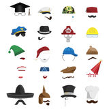 Invisible Men. Vector set of various invisible men with hats Stock Photography