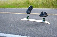 Invisible Skateboarder Stock Images