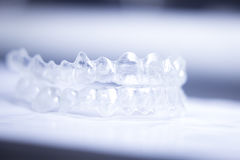 Invisible teeth aligners Stock Image