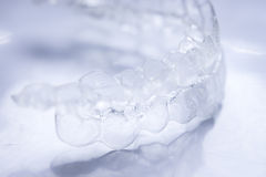 Invisible teeth aligners Royalty Free Stock Images