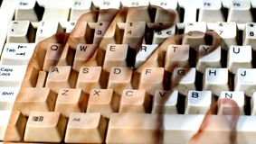 The invisible typist Royalty Free Stock Photography