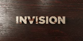 Invision - grungy wooden headline on Maple  - 3D rendered royalty free stock image Stock Photo