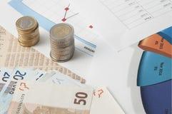 Invista e calcule o mercado de valores de ação imagem de stock royalty free