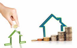 Invista no conceito dos bens imobiliários Imagens de Stock