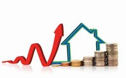 Invista no conceito dos bens imobiliários Fotos de Stock Royalty Free