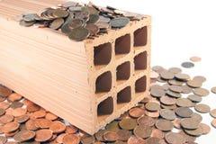 Invista nos tijolos e no almofariz Fotografia de Stock Royalty Free
