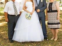 Invités au mariage image stock