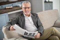 Invités de attente de retraité attirant Photo libre de droits