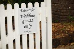 Invités de mariage seulement images libres de droits
