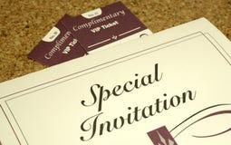 Invitación Foto de archivo