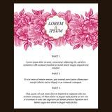 Invitación abstracta de la elegancia con el fondo floral Imágenes de archivo libres de regalías