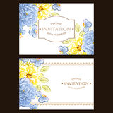 Invitación abstracta de la elegancia con el fondo floral Foto de archivo