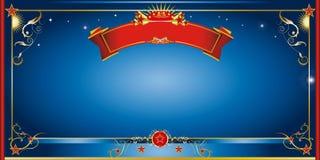 Invitación azul de la noche Foto de archivo libre de regalías