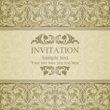 Invitación barroca, beige Imagen de archivo