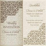 Invitación barroca de la boda, pátina Foto de archivo libre de regalías
