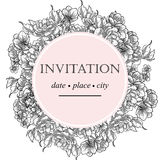 Invitación botánica romántica Fotos de archivo libres de regalías
