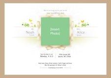 Invitación clásica blanca de la boda Fotografía de archivo