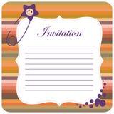 Invitación colorida del bebé Fotografía de archivo
