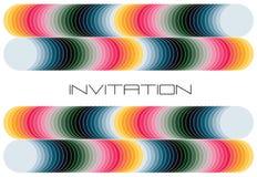 Invitación colorida geométrica Fotografía de archivo libre de regalías