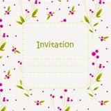 Invitación con las bayas estilizadas Foto de archivo