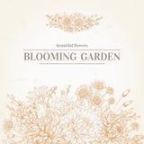 Invitación con las flores Ilustración del Vector