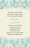Invitación con un fondo rico en estilo del renacimiento modelo Imágenes de archivo libres de regalías