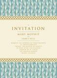 Invitación con un fondo rico en estilo del renacimiento modelo Foto de archivo libre de regalías