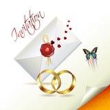 Invitación de boda Fotos de archivo libres de regalías