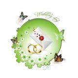 Invitación de boda Imagen de archivo libre de regalías