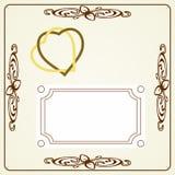 Invitación de boda stock de ilustración
