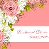 Invitación de boda Imagenes de archivo
