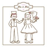 Invitación de boda libre illustration