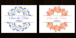 Invitación de boda Foto de archivo