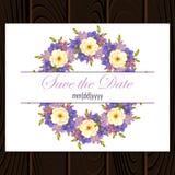Invitación de boda Fotografía de archivo libre de regalías