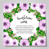 Invitación de boda Fotografía de archivo