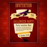 Invitación de la bandera al partido de Halloween con Imagen de archivo libre de regalías