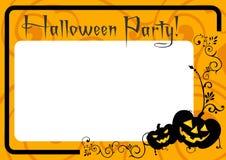 Invitación de la bandera de la tarjeta del partido del feliz Halloween Fotos de archivo libres de regalías
