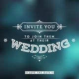 Invitación de la boda Stock de ilustración