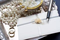 Invitación de la boda. Fotografía de archivo