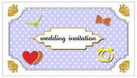 Invitación de la boda Fotos de archivo libres de regalías