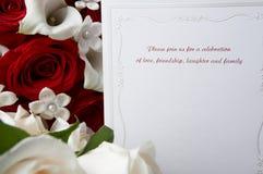 Invitación de la boda Imagen de archivo libre de regalías