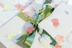 Invitación de la boda Fotografía de archivo