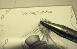 Invitación de la boda Foto de archivo