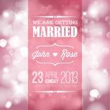 Invitación de la boda del vector Foto de archivo libre de regalías