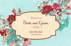 Invitación de la boda del vintage Imagen de archivo libre de regalías