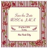 Invitación de la boda del vintage Imagen de archivo
