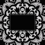 Invitación de la boda del vintage del vector en Lacy Pattern stock de ilustración
