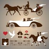 Invitación de la boda Elementos del diseño del vintage libre illustration