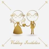 Invitación de la boda en el backgrond blanco Fotos de archivo libres de regalías