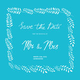 Invitación de la boda en un marco de ramas stock de ilustración